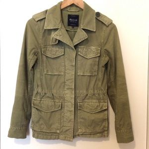 Madewell Women's Green Military Jacket - XS